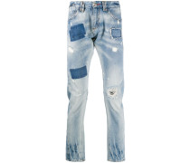 'Milano' Jeans mit Totenkopf
