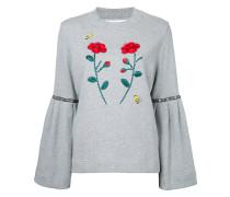 Sweatshirt mit Blumenapplikationen