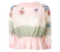 floral knit peplum jumper