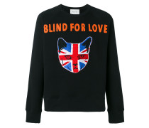 "- Sweatshirt mit ""Blind For Love""-Stickerei - men"