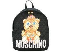 Gesteppter Rucksack mit Teddybärenmotiv