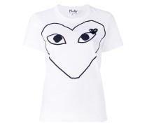 - T-Shirt mit Herz-Print - women - Baumwolle - XS