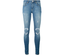 Bestickte Jeans mit Distressed-Optik - women
