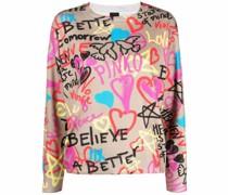 Pullover mit Graffiti-Print