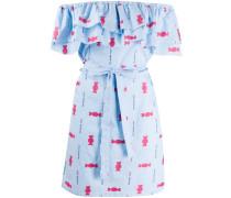 Popeline-Kleid mit Print