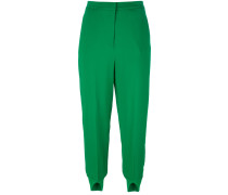 slit cuffs cropped trousers