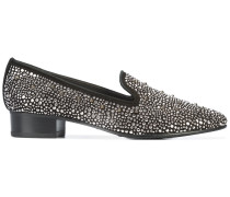 Verzierte Loafer mit Pailletten