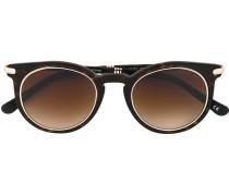 gold trim round sunglasses - men - Acetat