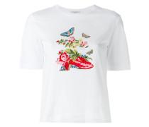 Besticktes T-Shirt - women - Baumwolle - 38