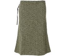 flared tweed skirt