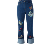 Jeans mit Schmetterlings-Patches - women