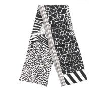 zebra padded scarf