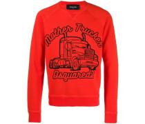 "Sweatshirt mit ""Mother Trucker""-Print"
