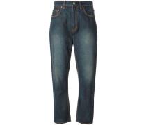 Boyfriend-Jeans mit gekürztem Schnitt