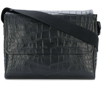 croc effect messenger bag
