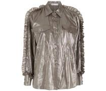 Gerüschtes Hemd im Metallic-Look