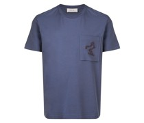 Lockeres T-Shirt mit Brusttasche