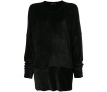 velvet effect sweater