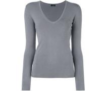 Pullover mit U-Ausschnitt