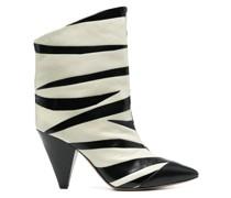 Stiefel mit Zebra-Print 100mm
