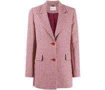 checked tailored blazer