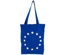 Shopper mit Sternen-Stickerei