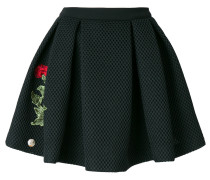 rose patch mini skirt
