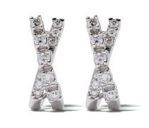 14kt 'Ava Bea' Weißgoldcreolen mit Diamanten