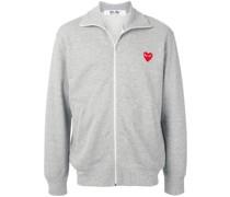 Sweatshirtjacke mit Logo-Print