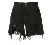 Jeansshorts mit Distressed-Optik - women