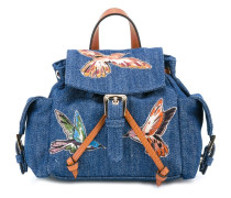 Mini Jeansrucksack mit Schmetterlingen