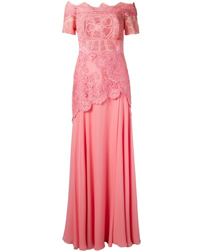 off the shoulder lace Patricia gown