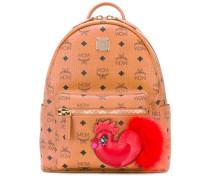 logo print backpack - women - Kalbsleder