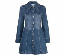 button-up washed denim dress