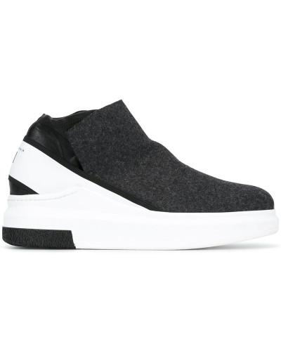 cinzia araia herren slip on sneakers mit plateausohle. Black Bedroom Furniture Sets. Home Design Ideas