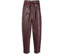 Shelby faux-leather cropped trousers