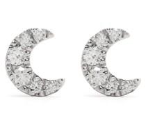 18kt Moon Rotgoldohrringe mit Diamanten