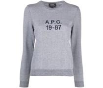 A.P.C. Intarsien-Pullover mit Logo