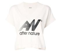 Cropped-T-Shirt mit V-Ausschnitt