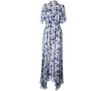 Florales Abendkleid mit Stehkragen