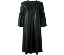 Mittellanges Kleid in Lederoptik