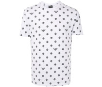 striped dot print T-shirt