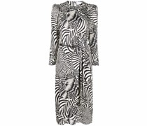 Midikleid mit Zebra-Print