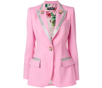 Single Breasted blazer with Small Roses