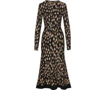 Kleid mit Pfauenmuster