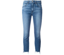 - Cropped-Jeans mit Fransensaum - women