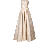 Schulterfreies Jacquard-Abendkleid