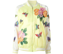 butterfly decal bomber jacket