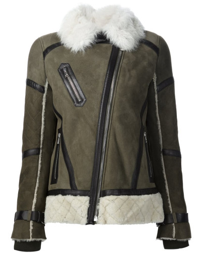 belstaff damen shearling jacke mit pelzkragen reduziert. Black Bedroom Furniture Sets. Home Design Ideas