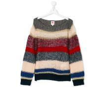 metallic loose knit jumper